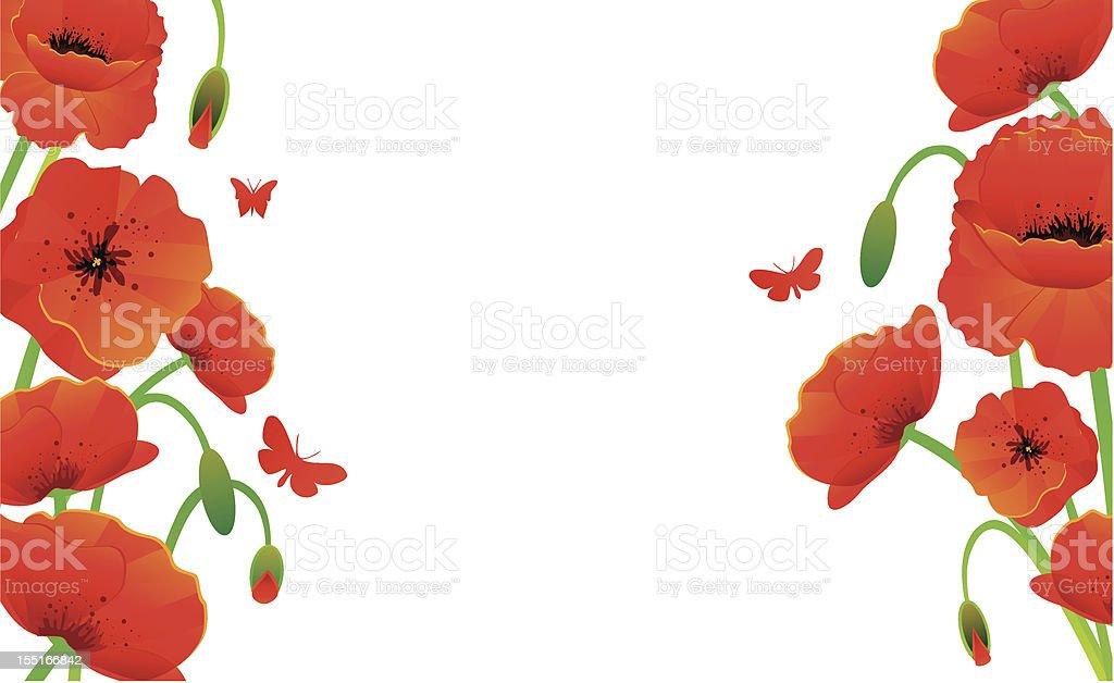 Red poppy royalty-free stock vector art