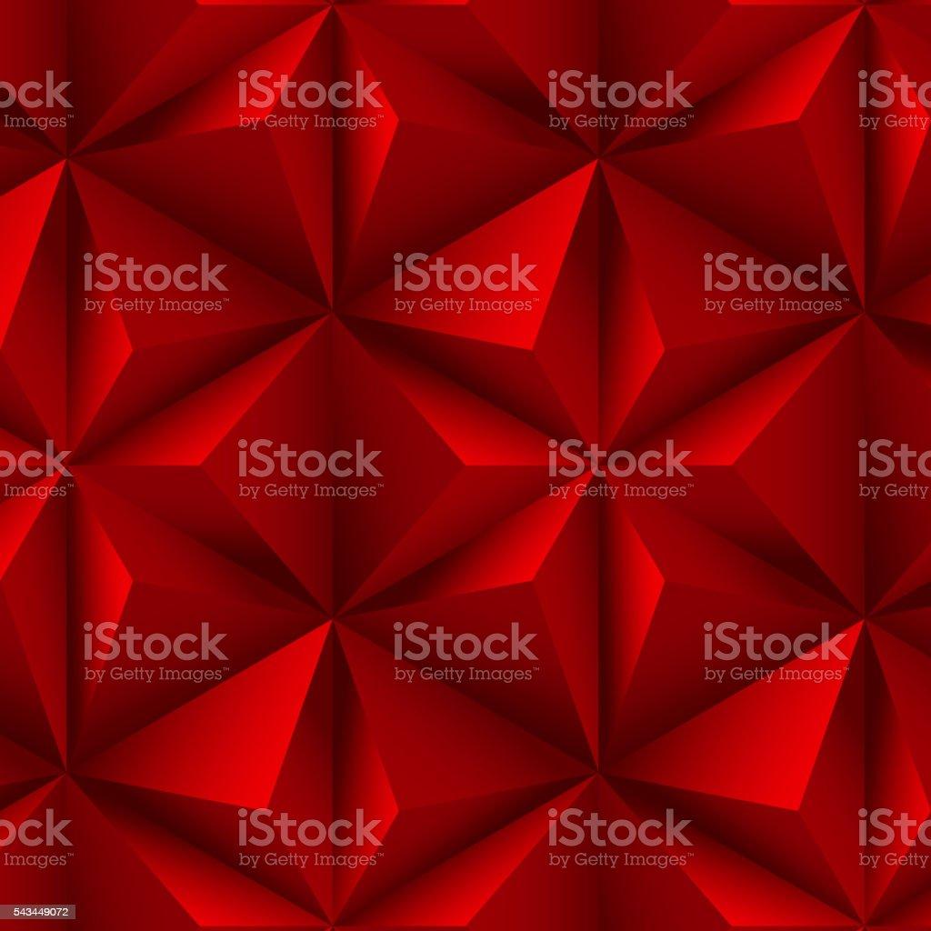 red Pyramid Texture Seamless pattern vector art illustration