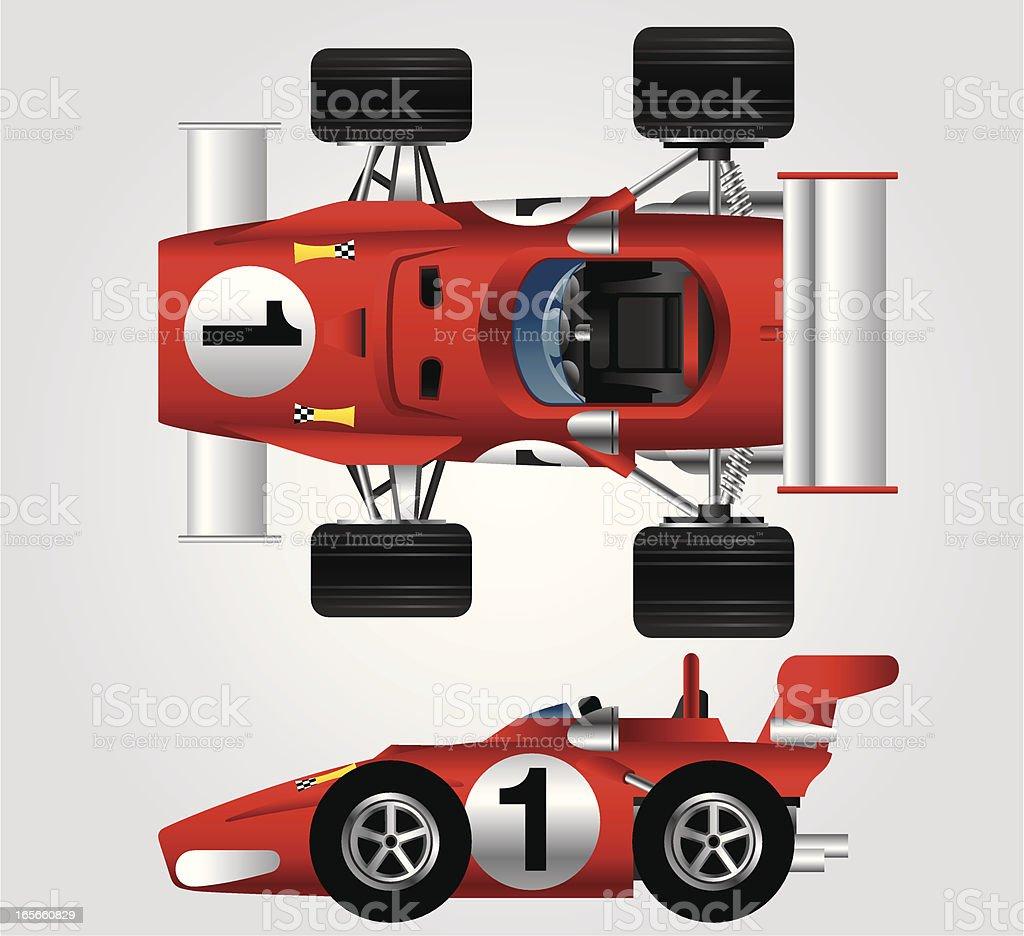 Red Race Car vector art illustration