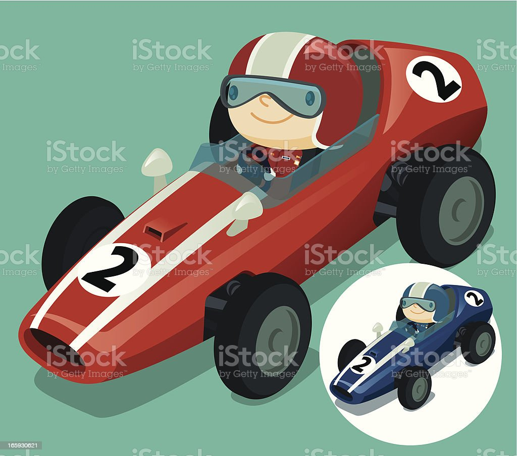 Red Race Car vector art illustration