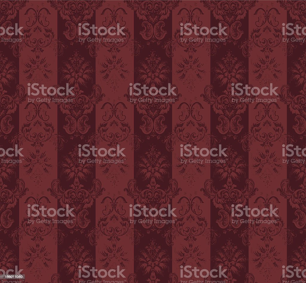 Red retro wallpaper background royalty-free stock vector art