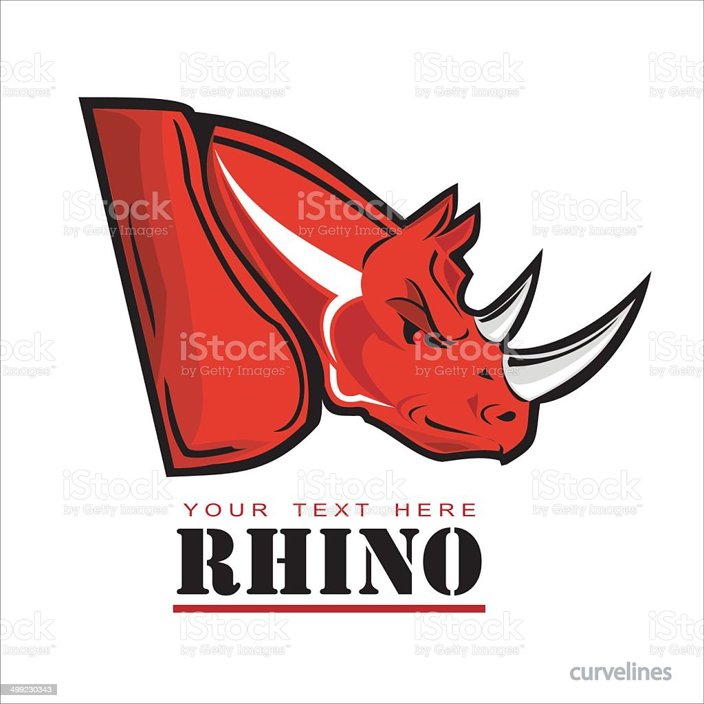 Red Rhinoceros. royalty-free stock vector art