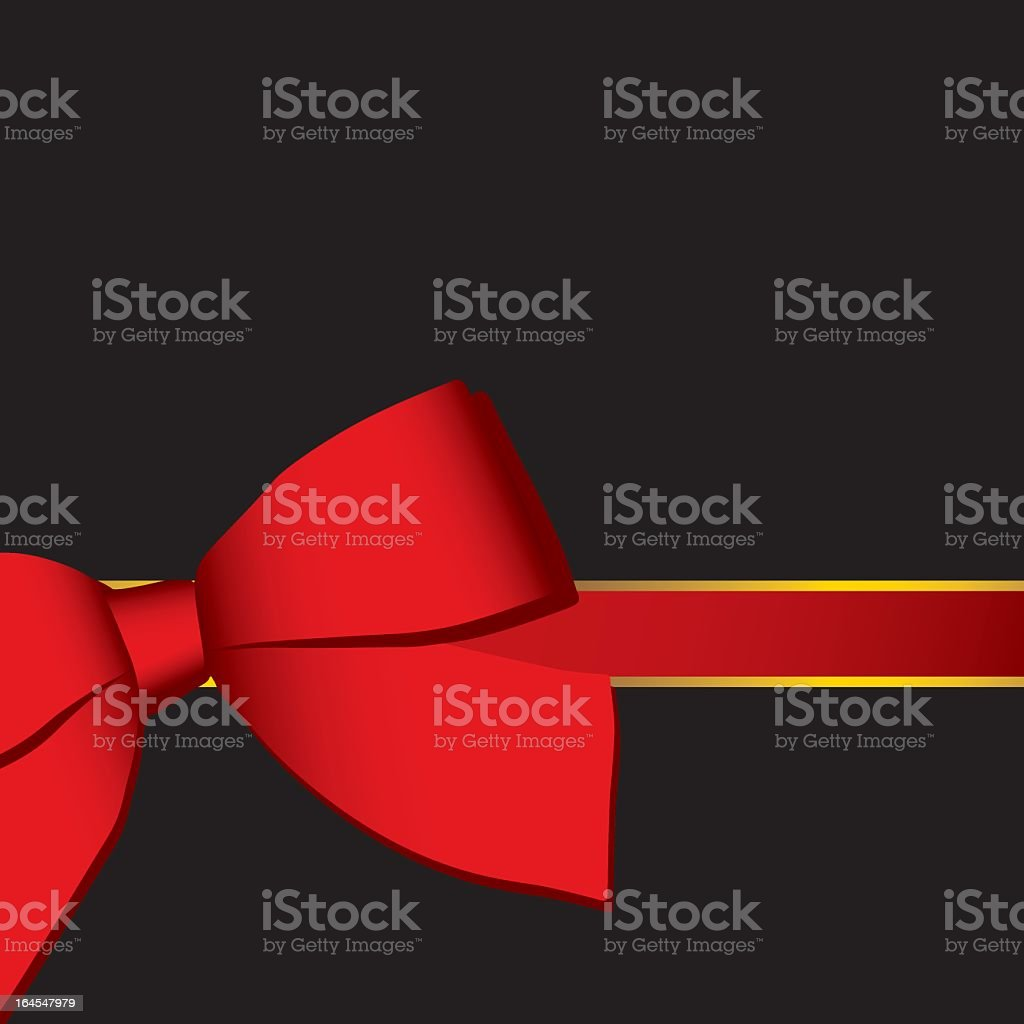 red ribbon on black background royalty-free stock vector art