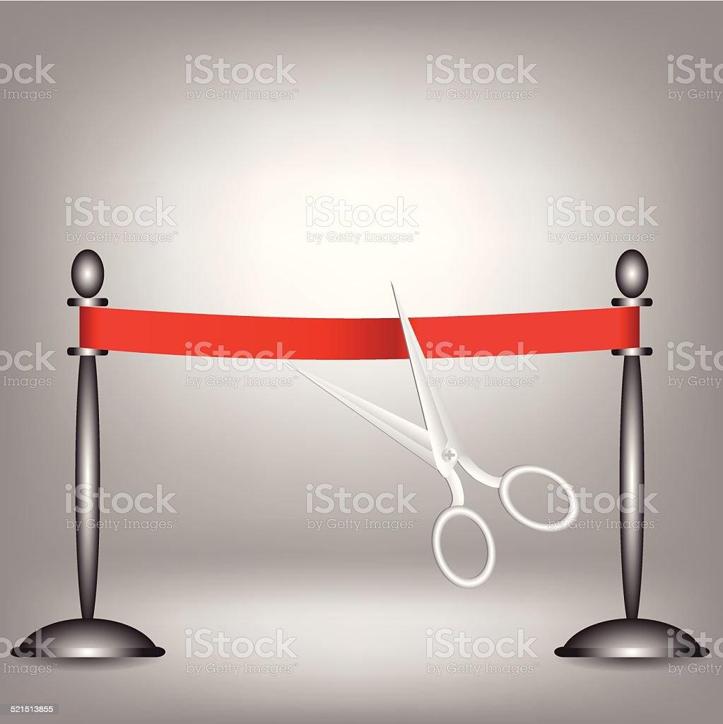 red ribbon vector art illustration