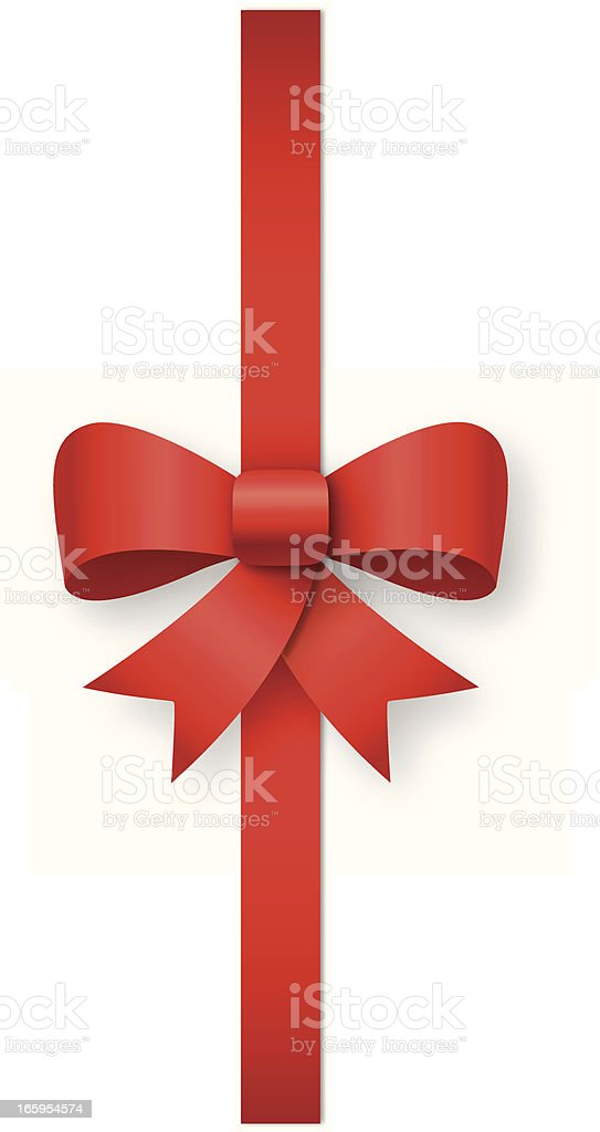 Red ribbon with bow royalty-free stock vector art