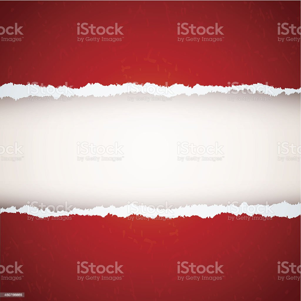 red ripped paper royalty-free stock vector art