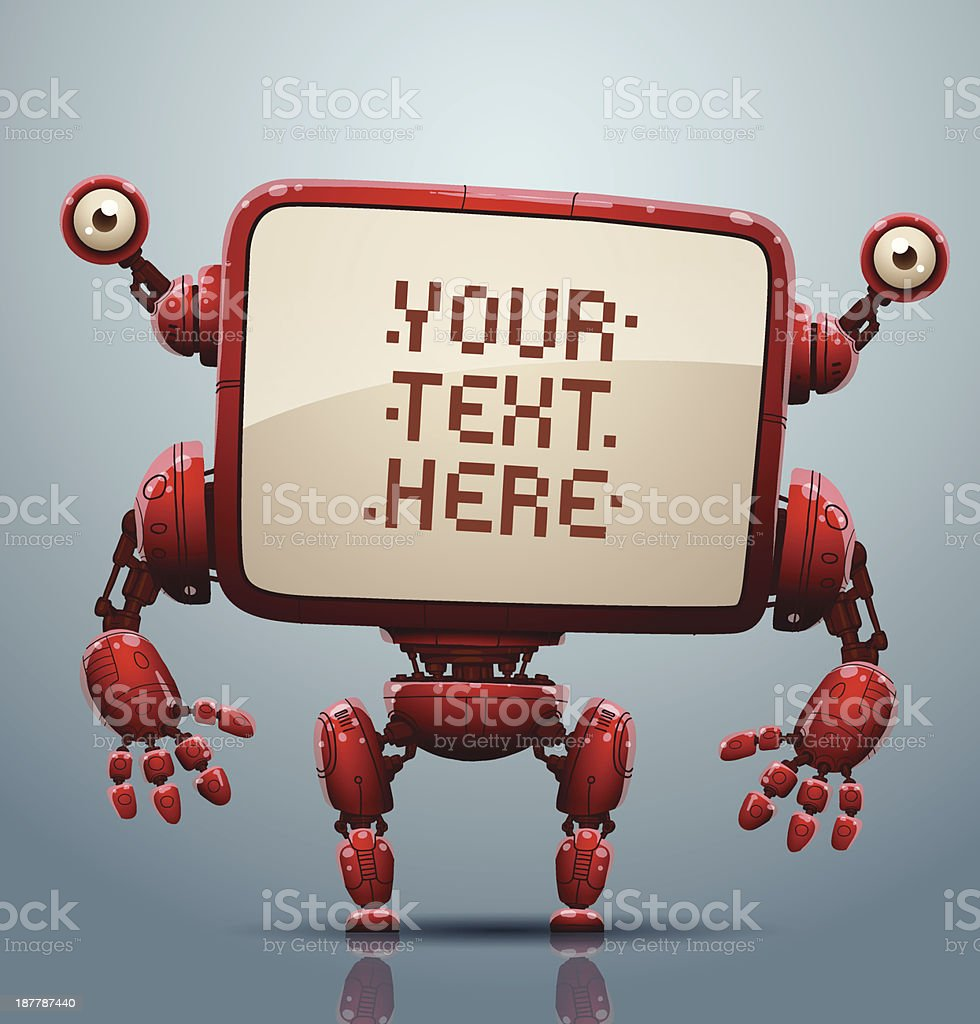 Red robot banner royalty-free stock vector art