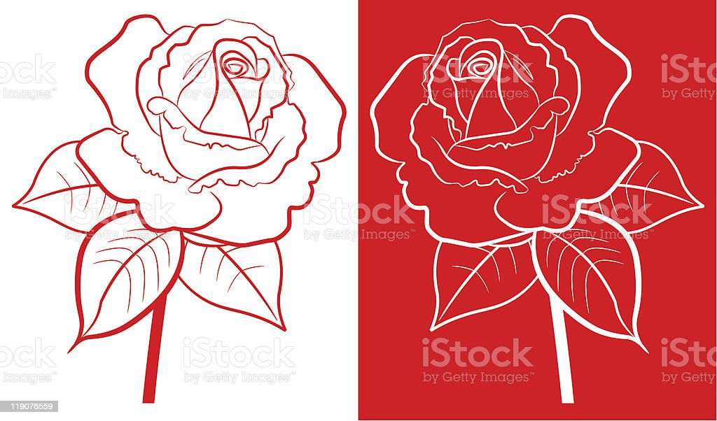 red rose royalty-free stock vector art
