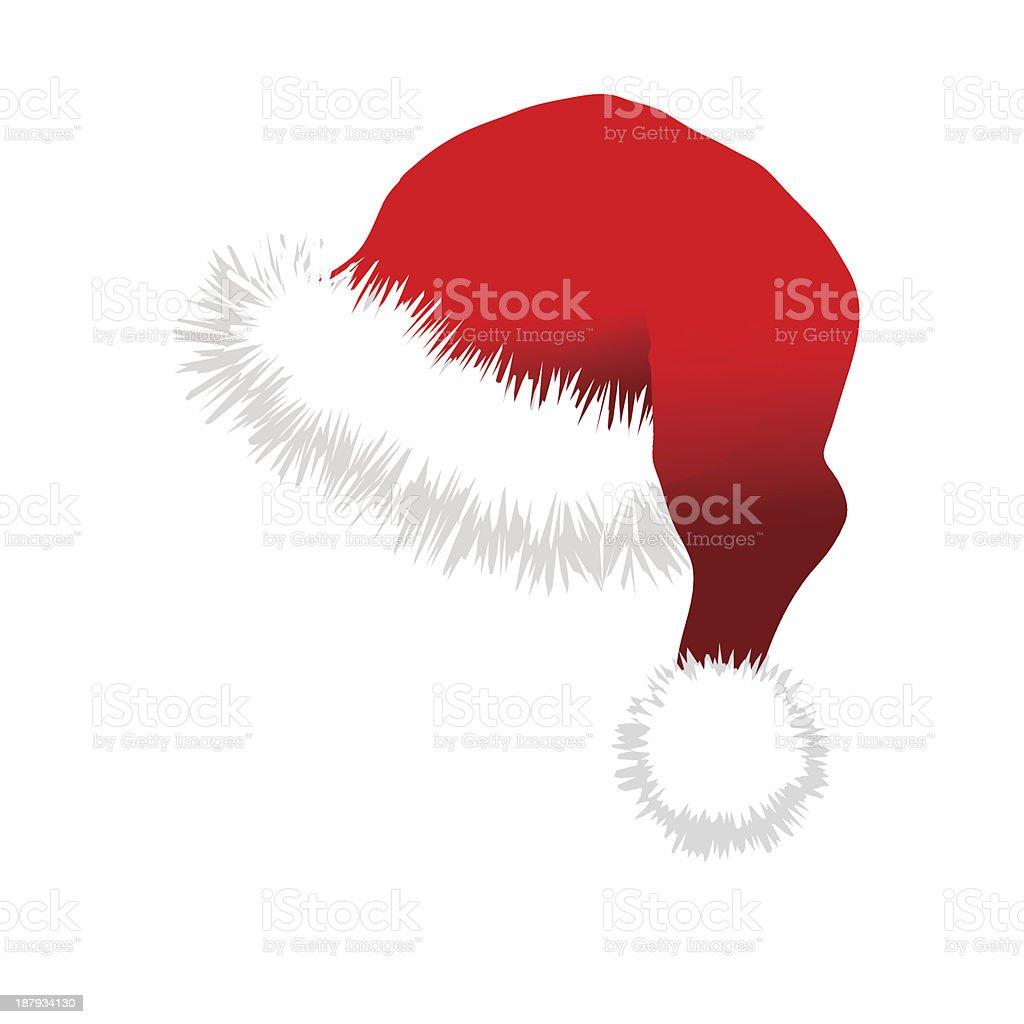 Red Santa Claus Hat royalty-free stock vector art