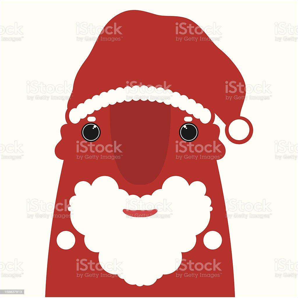 Red Santa Claus royalty-free stock vector art