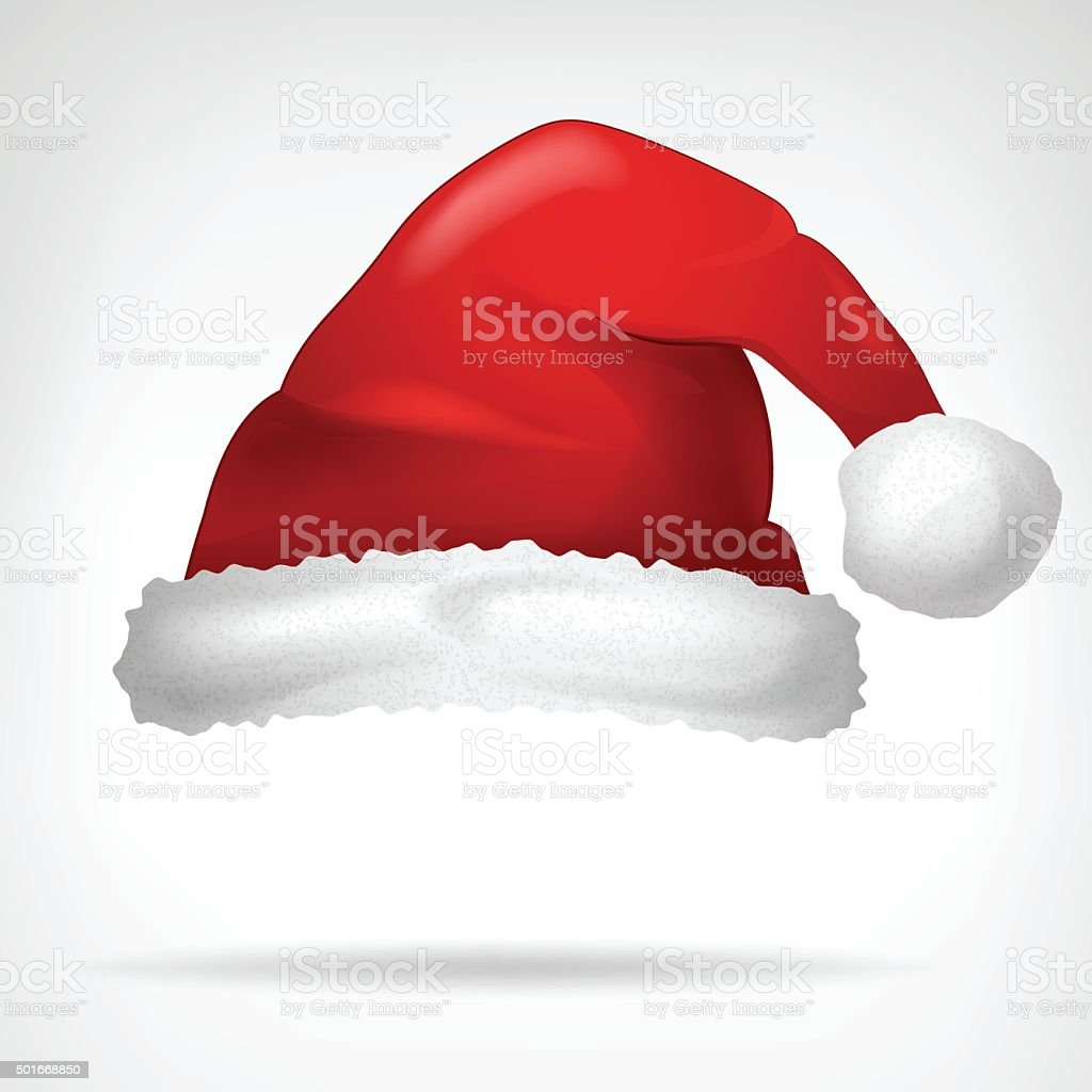 red santa hat isolated on white vector vector art illustration