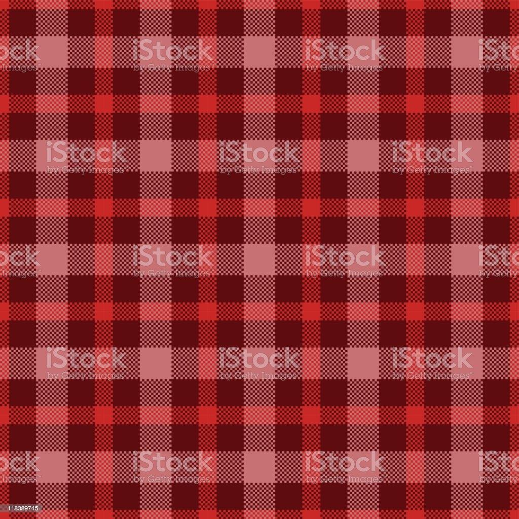 Red scottish seamless pattern vector art illustration