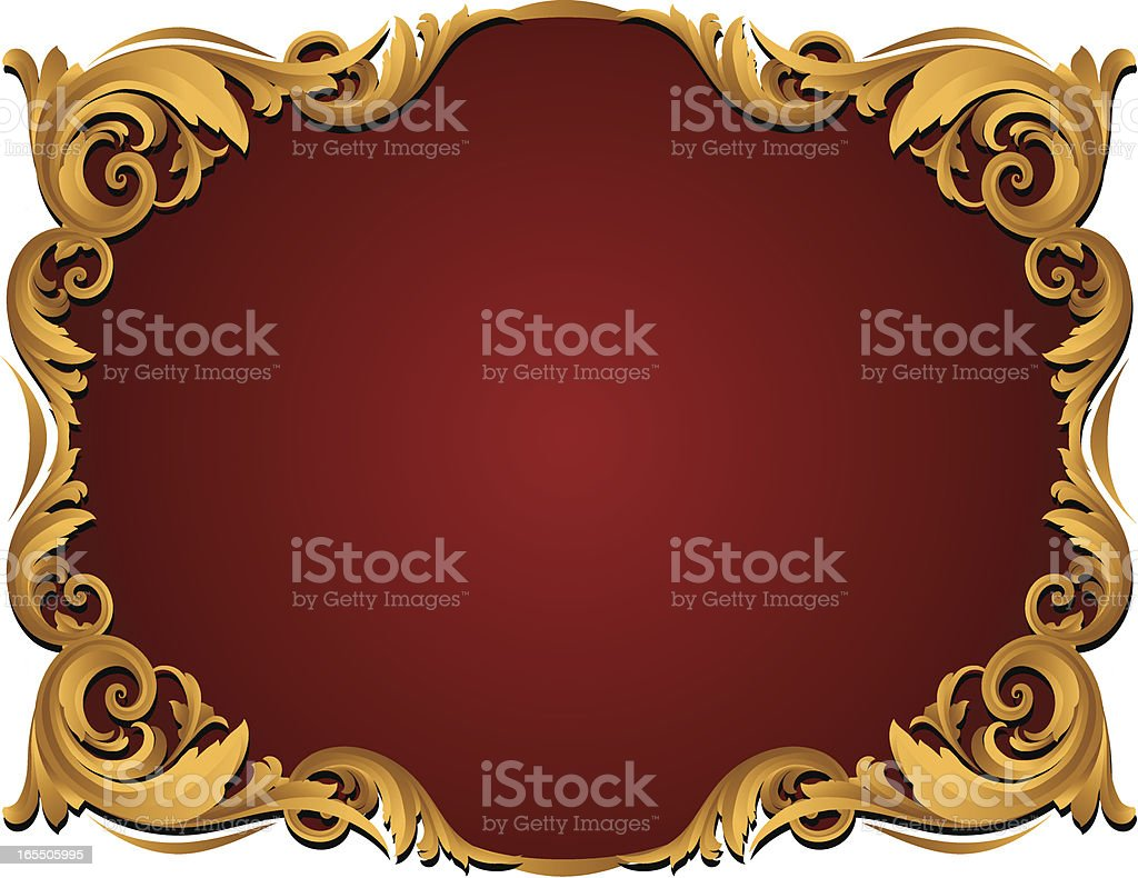 Red Sculpted Gold Banner royalty-free stock vector art
