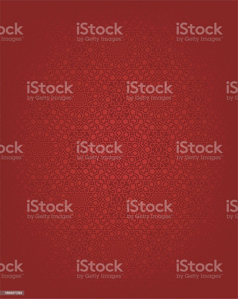 Red seamless Islamic design background vector art illustration