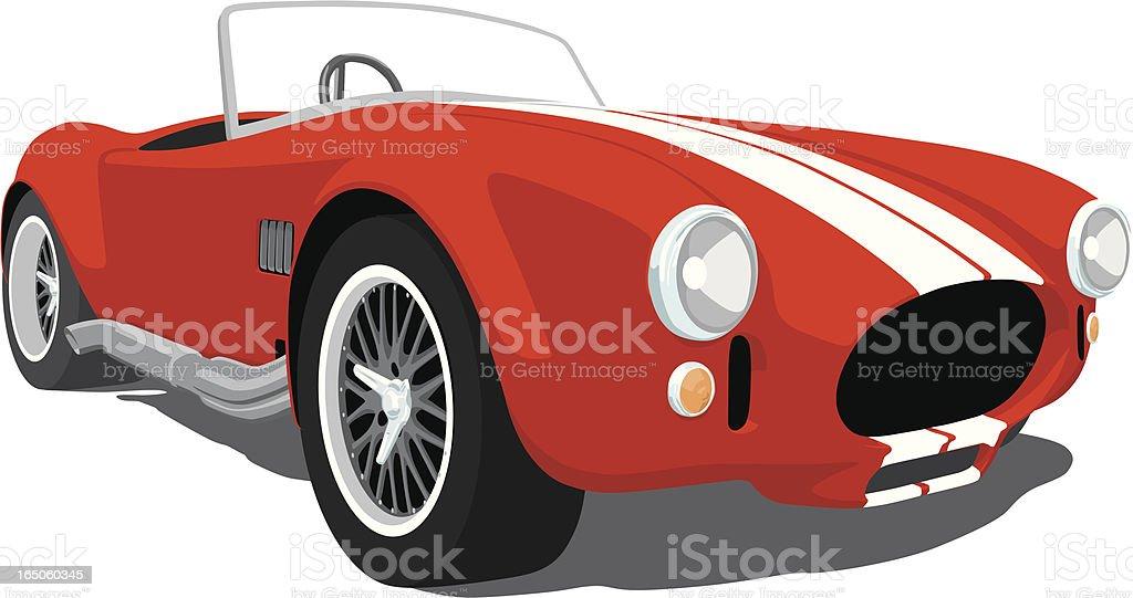 Red Shelby Cobra vector art illustration