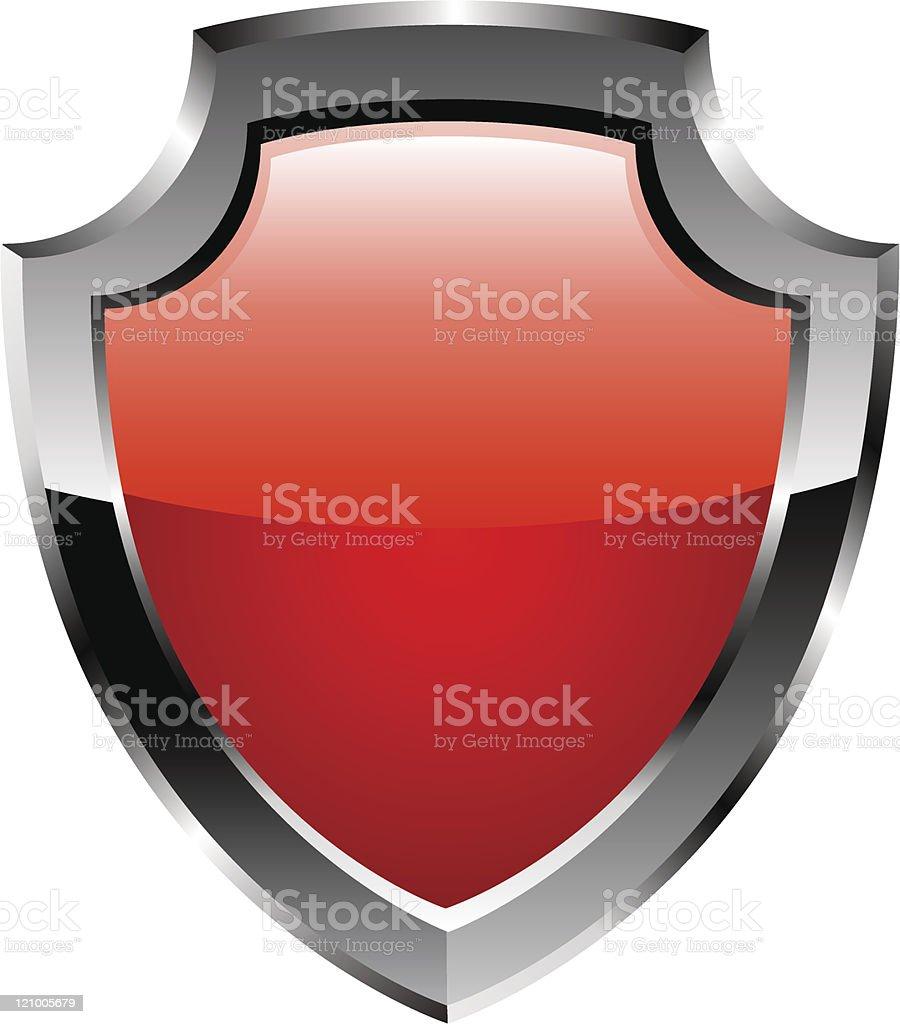Red shield. Vector royalty-free stock vector art