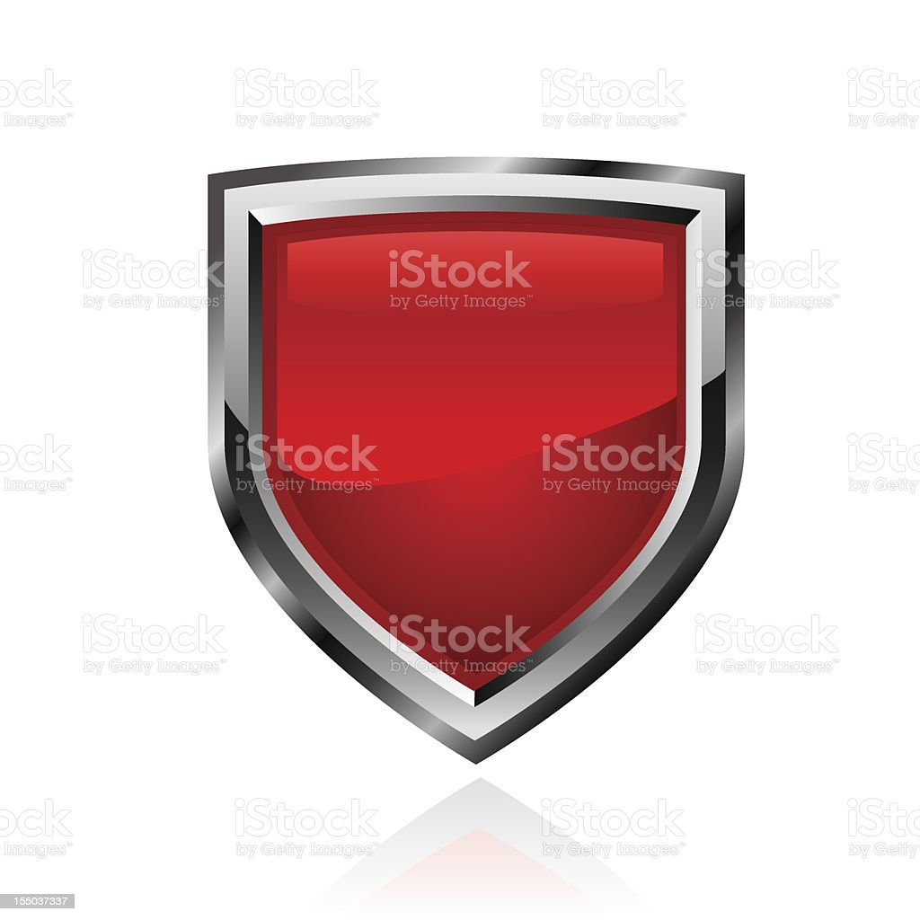 Red shield. Vector vector art illustration