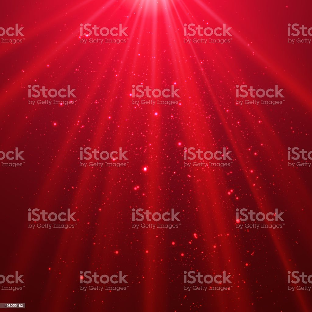 Red shining light top magic abstract vector art illustration