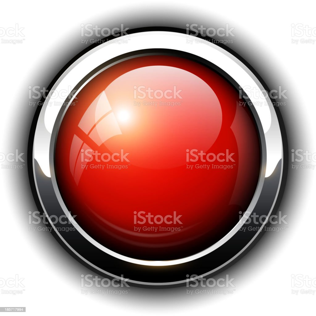 Red shiny button royalty-free stock vector art