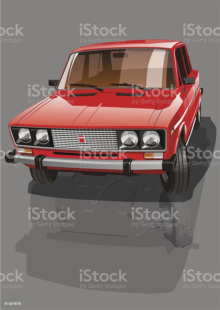 Red shiny car royalty-free stock vector art