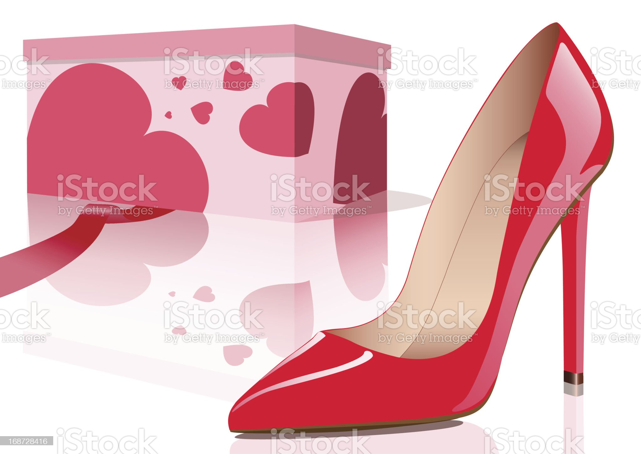 Red shoe royalty-free stock vector art
