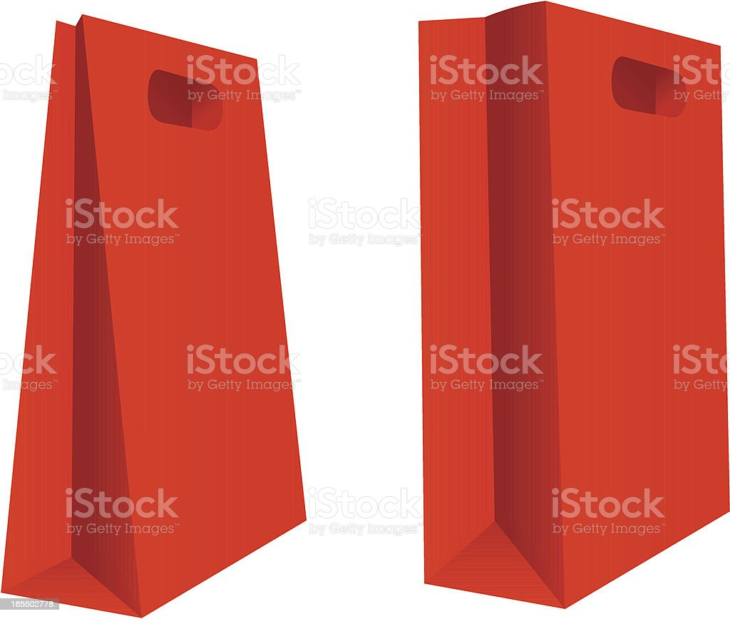 Red shopping bag royalty-free stock vector art