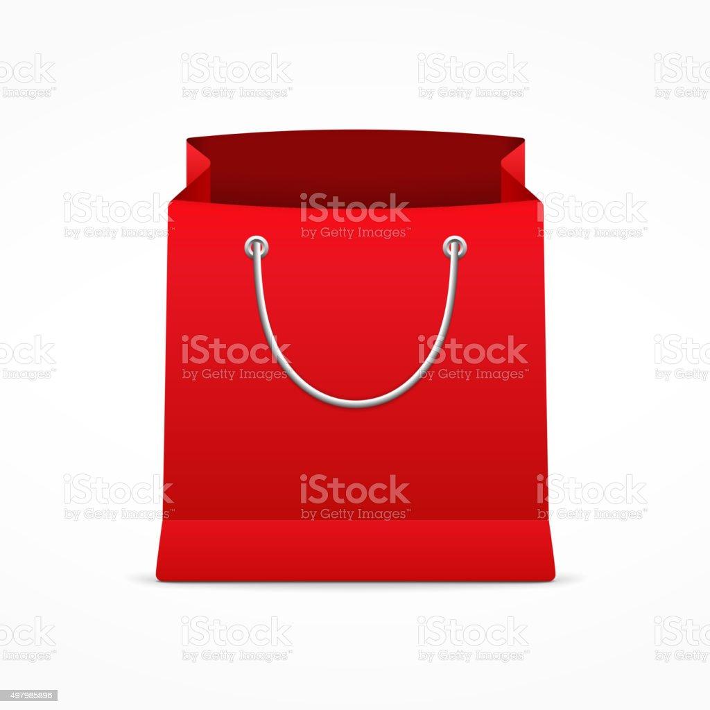 Red Shopping Bag vector art illustration