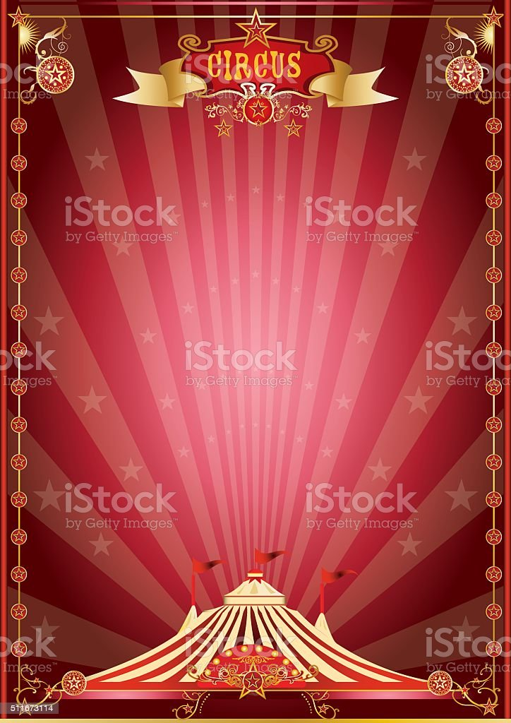 red show circus poster vector art illustration