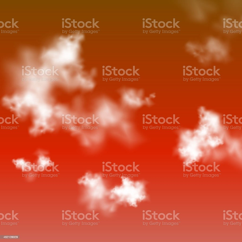 Red sky with clouds royalty-free stock vector art