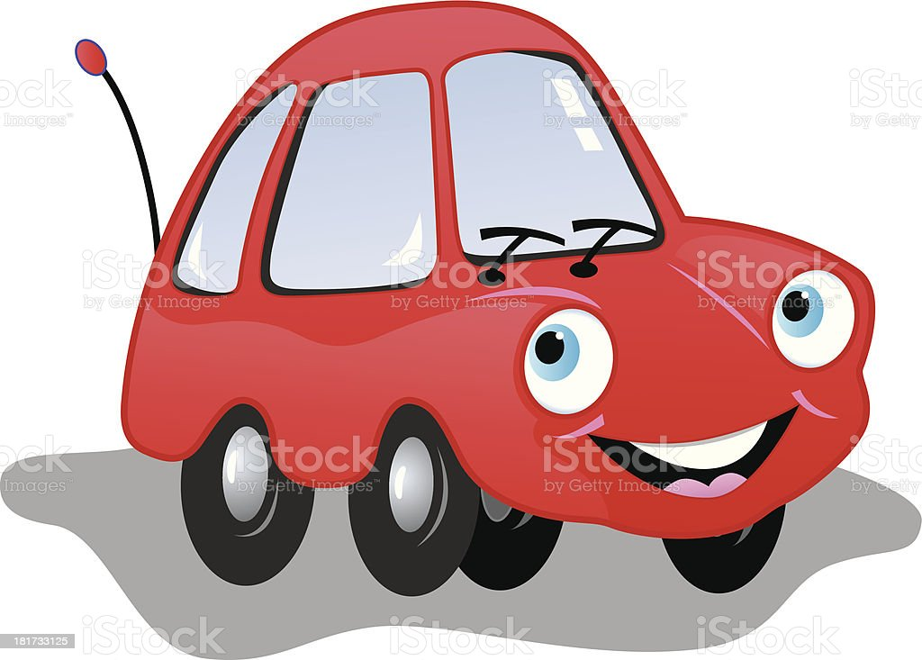 Red Smiling Car royalty-free stock vector art