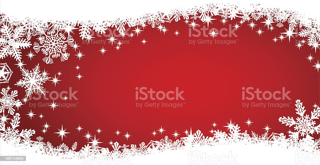 Red Snowflake Christmas Swish Background royalty-free stock vector art