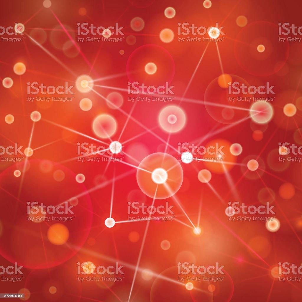 red social network design vector art illustration