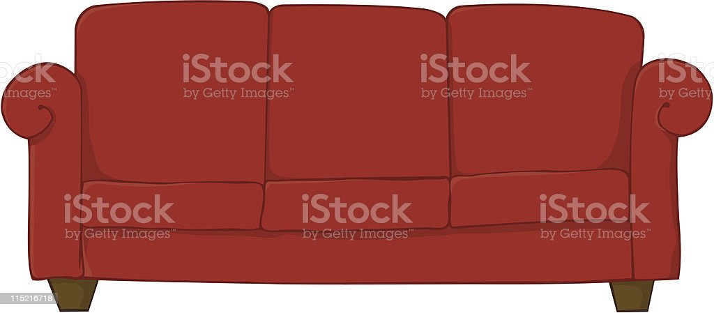 Red Sofa royalty-free stock vector art