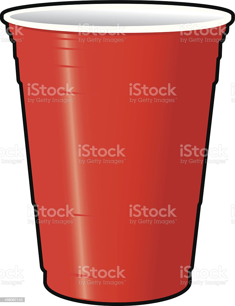 Red Solo Cup vector art illustration