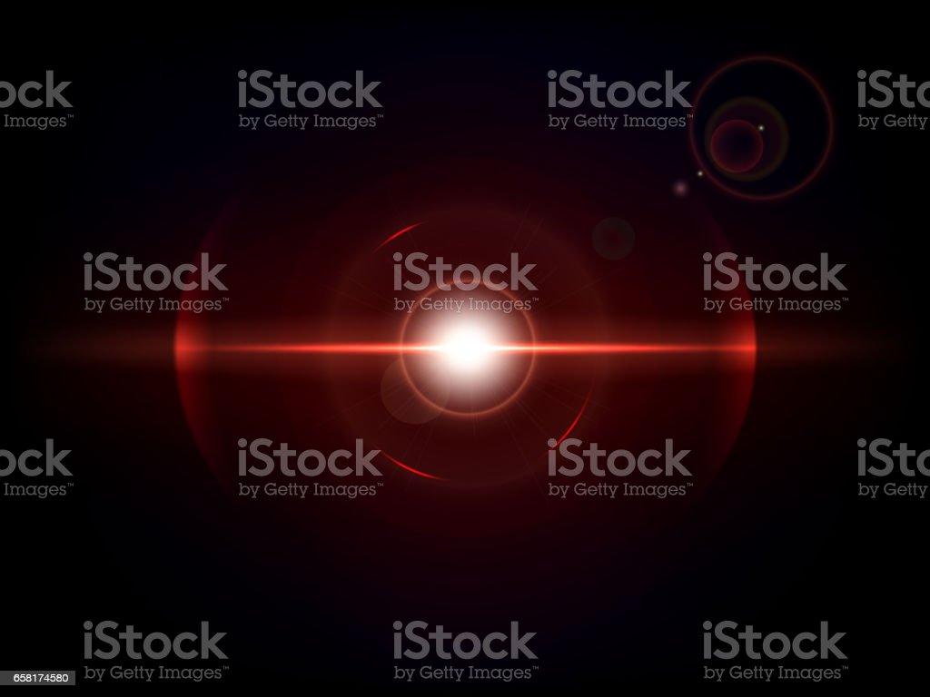 Red space explosion, cosmos burst vector art illustration