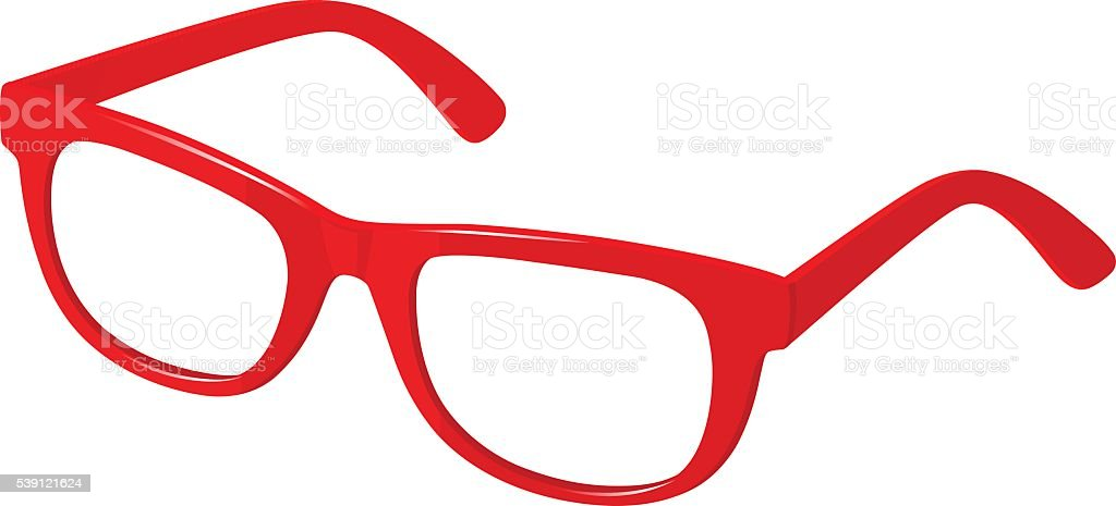 red spectacles vector art illustration