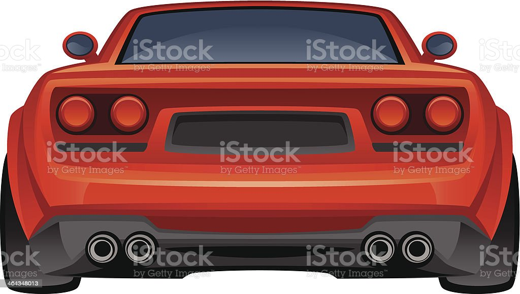 Red sport ca royalty-free stock vector art