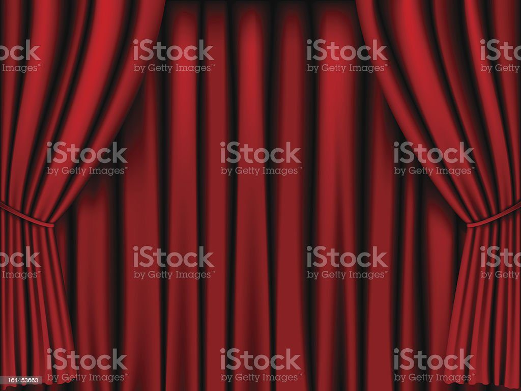 Red stage curtain background design royalty-free stock vector art