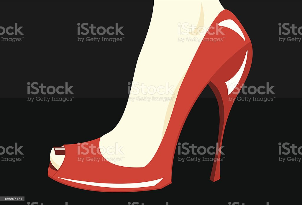 Red Stiletto royalty-free stock vector art