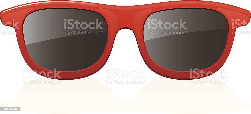 Red Sunglasses royalty-free stock vector art