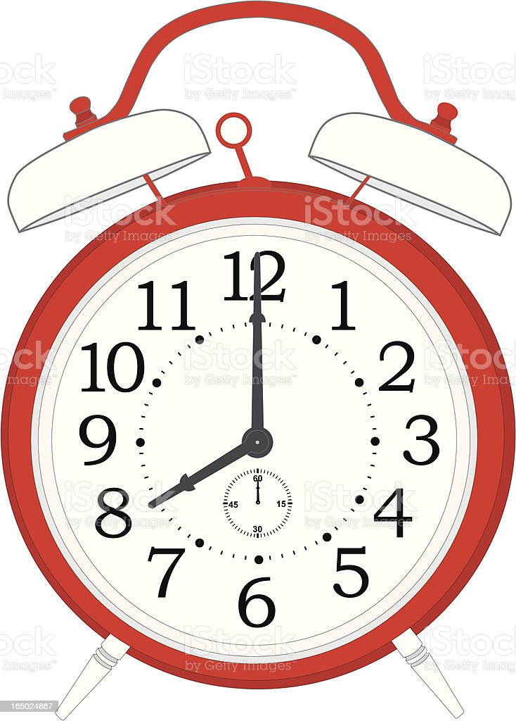 red table alarm clock royalty-free stock vector art