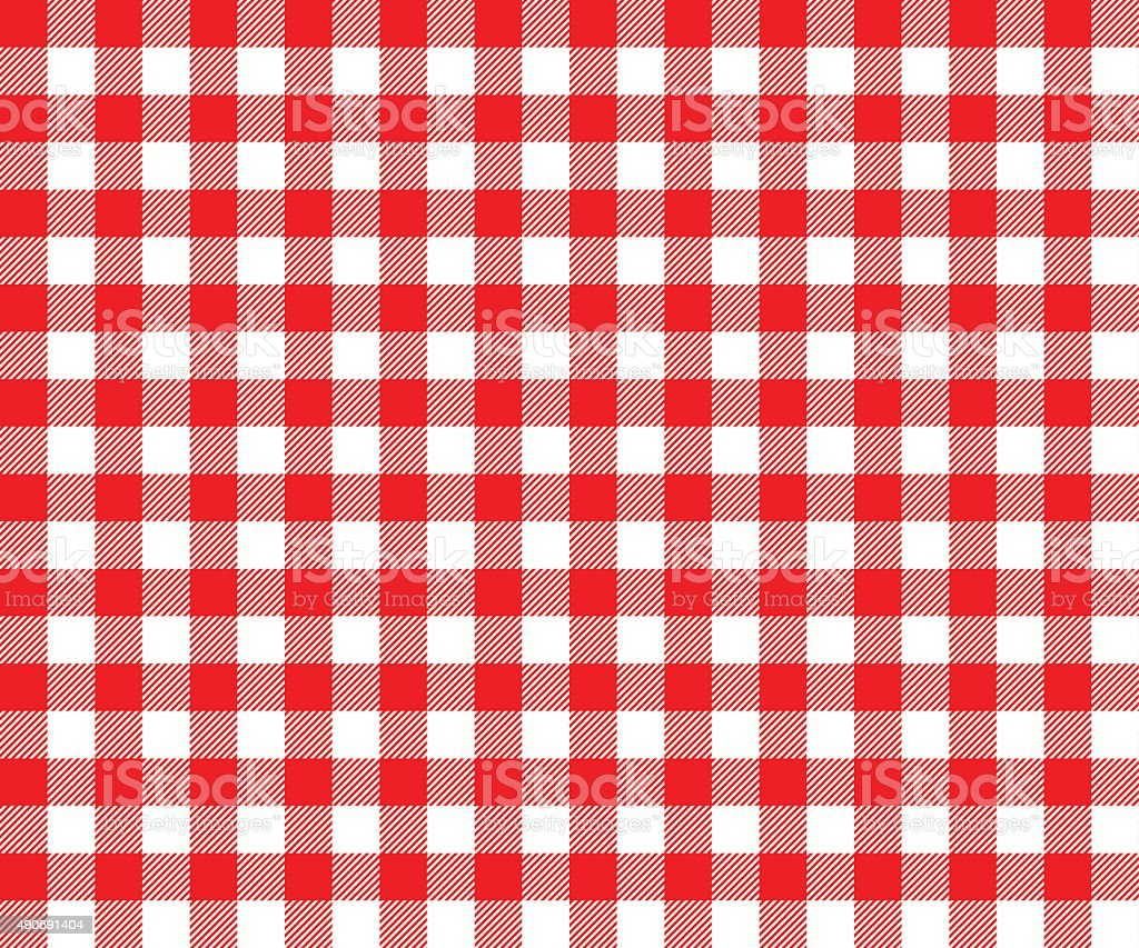 red table cloth background seamless pattern vector art illustration
