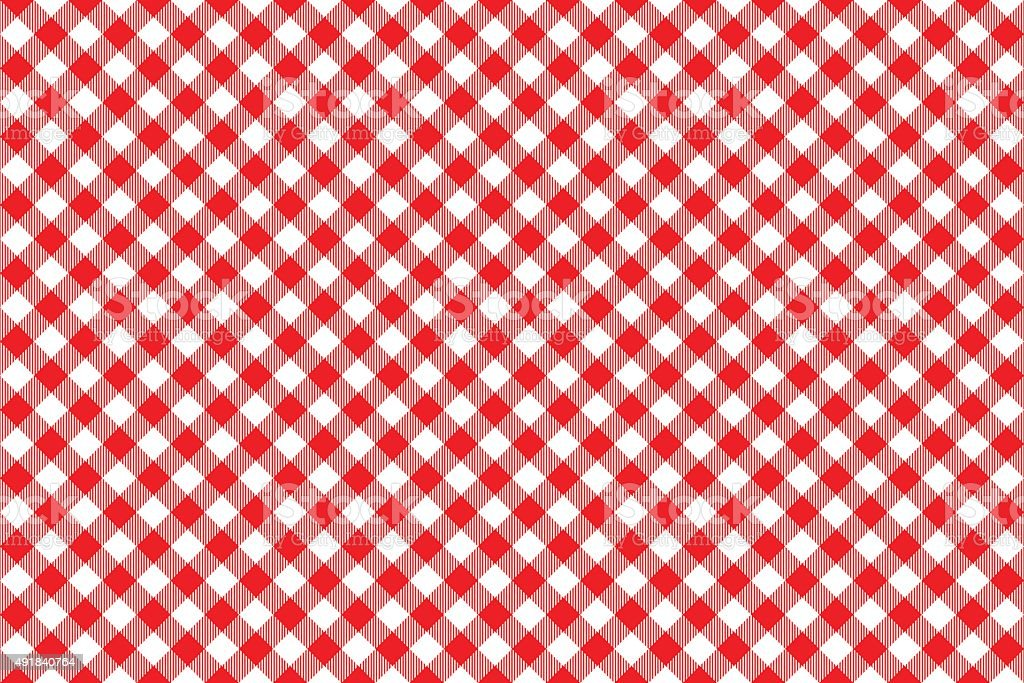red tablecloth diagonal background seamless pattern vector art illustration