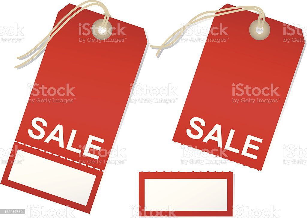 Red Tag Sale-Torn royalty-free stock vector art