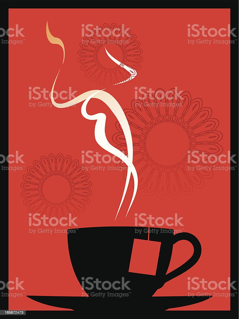 red tea royalty-free stock vector art