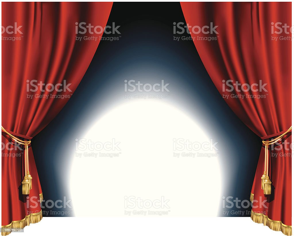 Red theater curtains royalty-free stock vector art