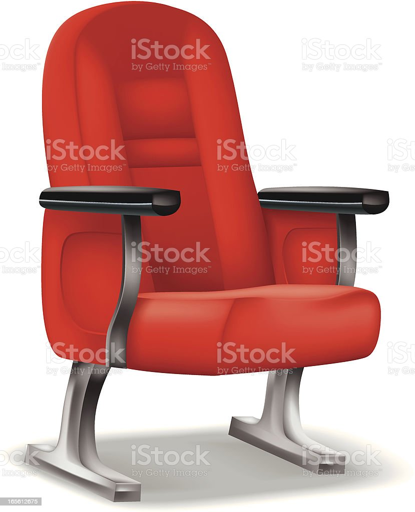 Red theater seat royalty-free stock vector art