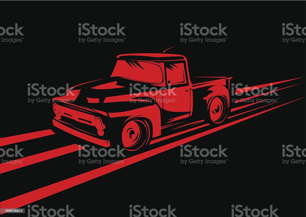 Red truck royalty-free stock vector art