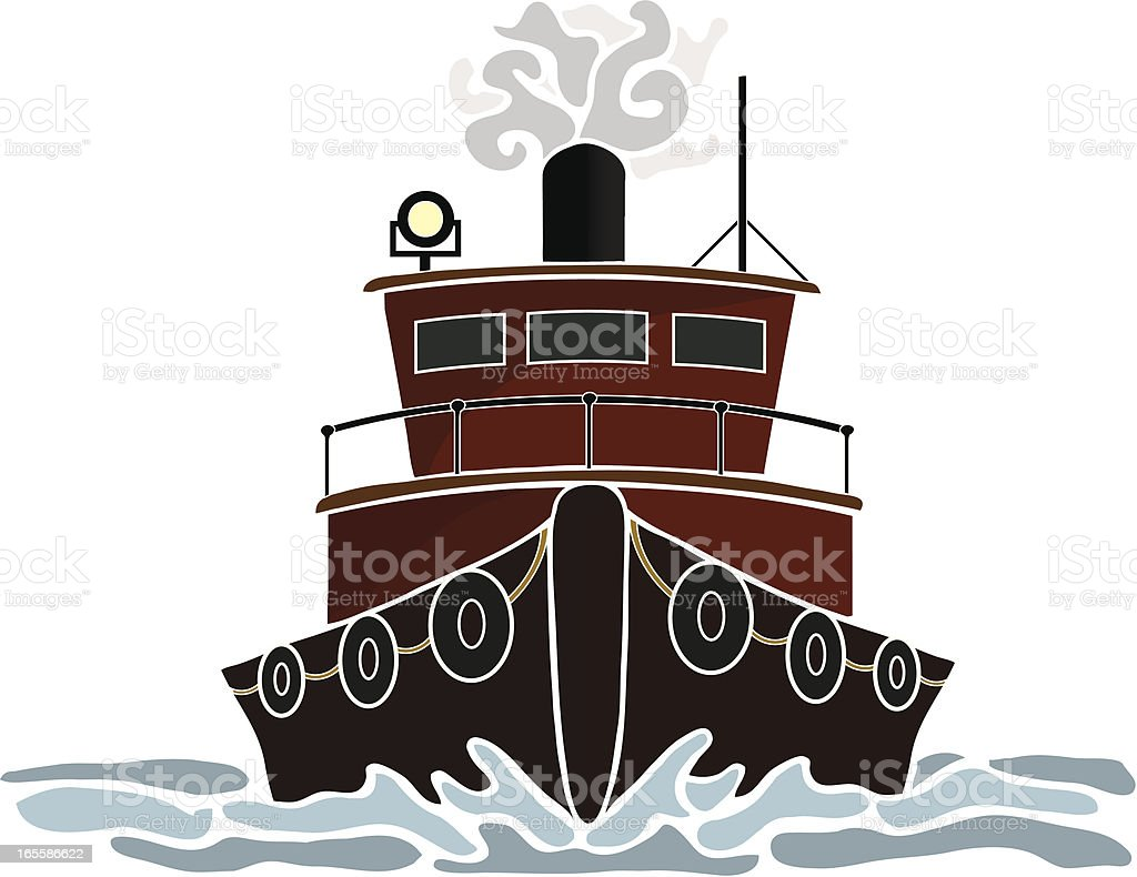 Red Tugboat royalty-free stock vector art