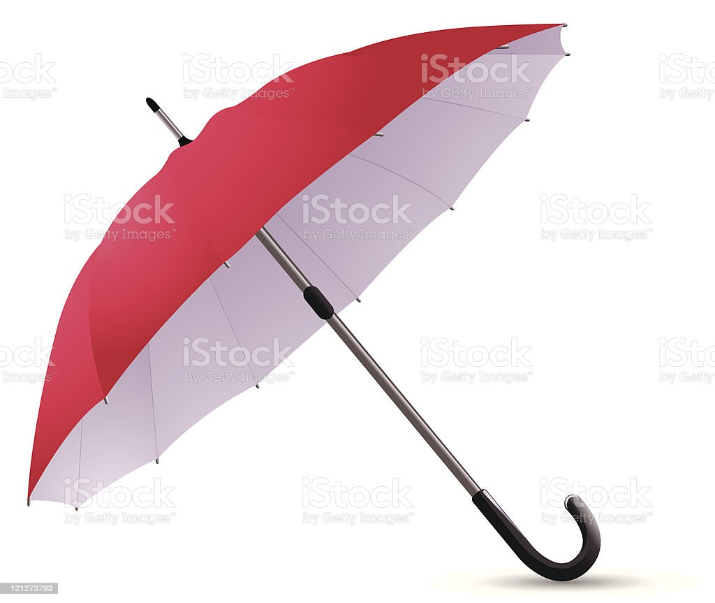 Red umbrella royalty-free stock vector art